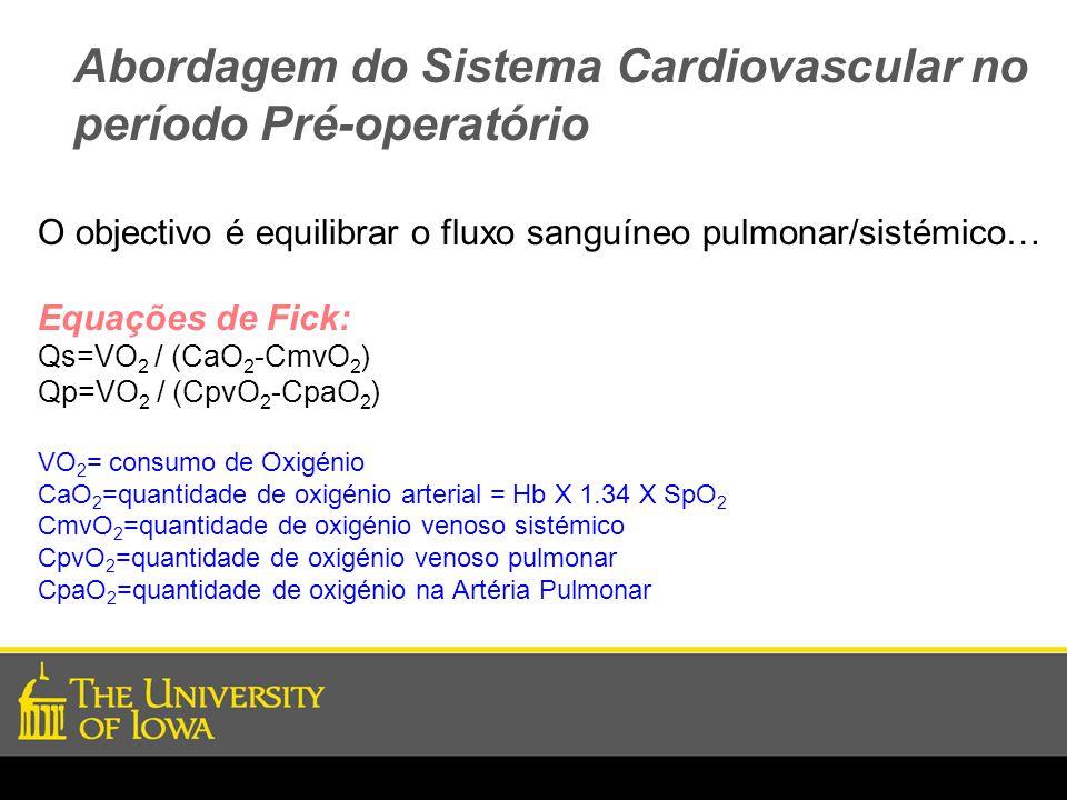 Abordagem do Sistema Cardiovascular no período Pré-operatório
