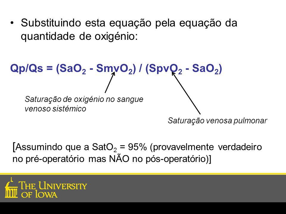 Substituindo esta equação pela equação da quantidade de oxigénio: