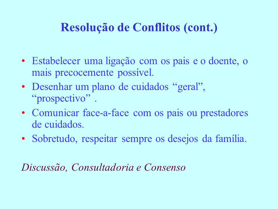 Resolução de Conflitos (cont.)