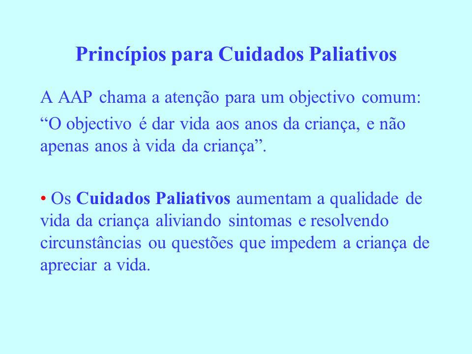 Princípios para Cuidados Paliativos