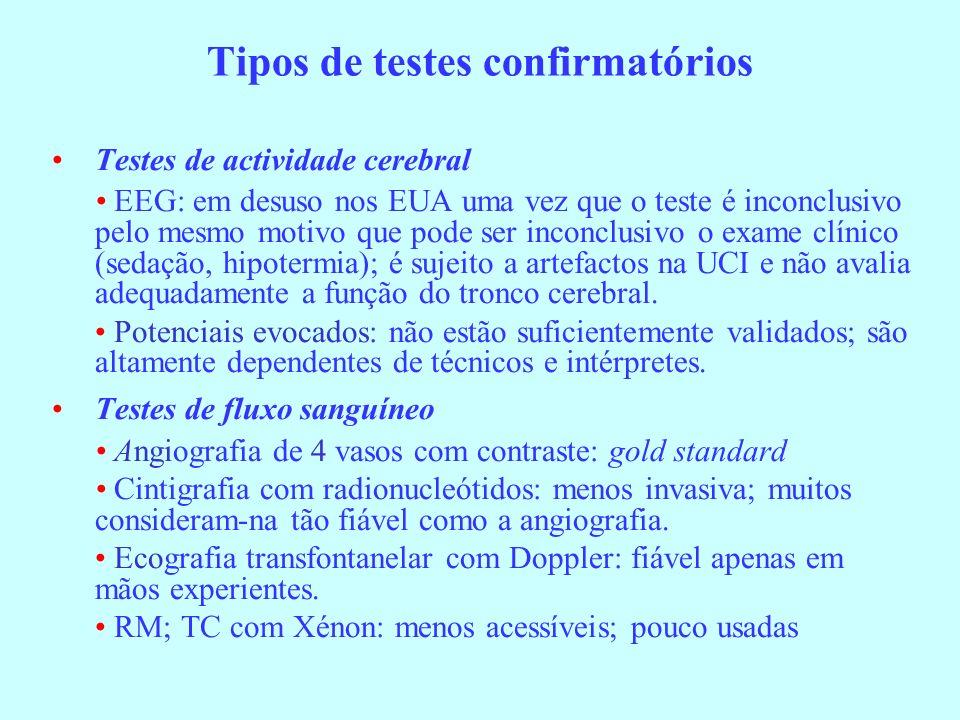 Tipos de testes confirmatórios