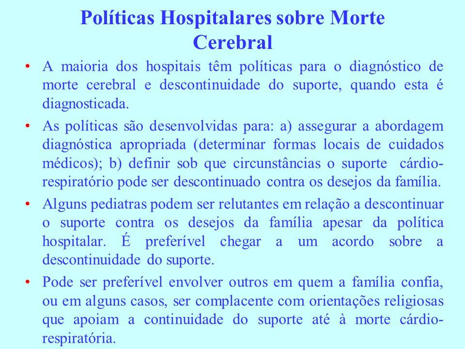 Políticas Hospitalares sobre Morte Cerebral