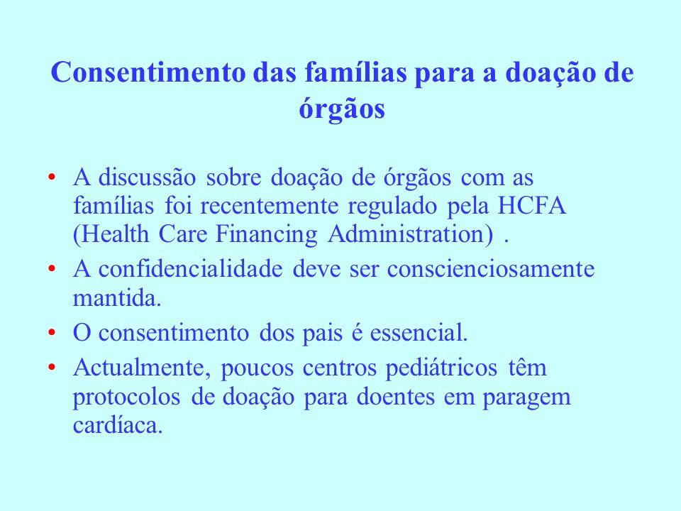 Consentimento das famílias para a doação de órgãos