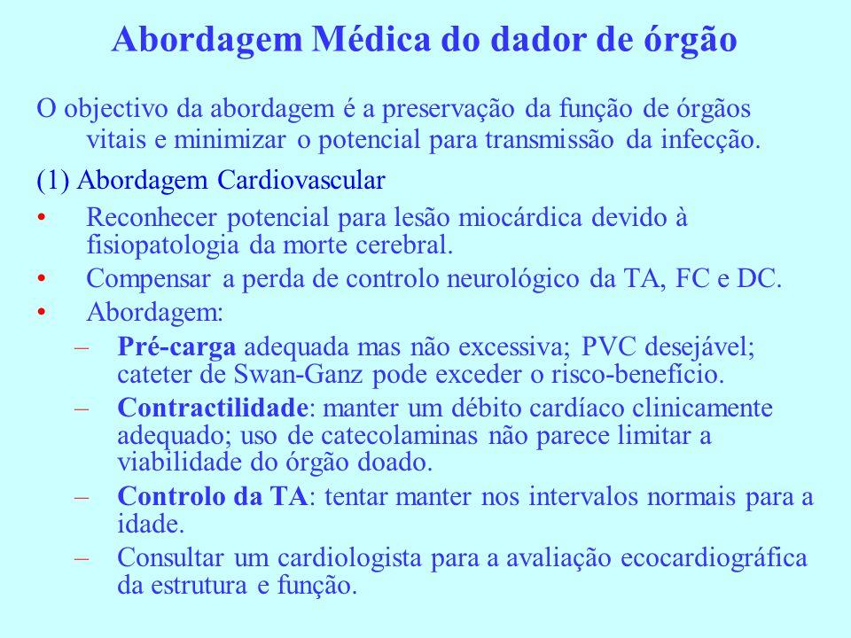 Abordagem Médica do dador de órgão