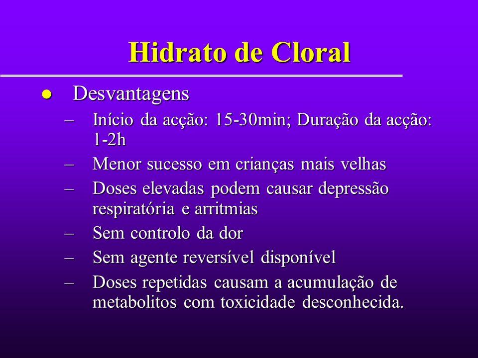 Hidrato de Cloral Desvantagens