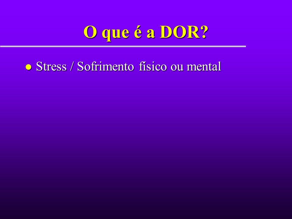 O que é a DOR Stress / Sofrimento físico ou mental