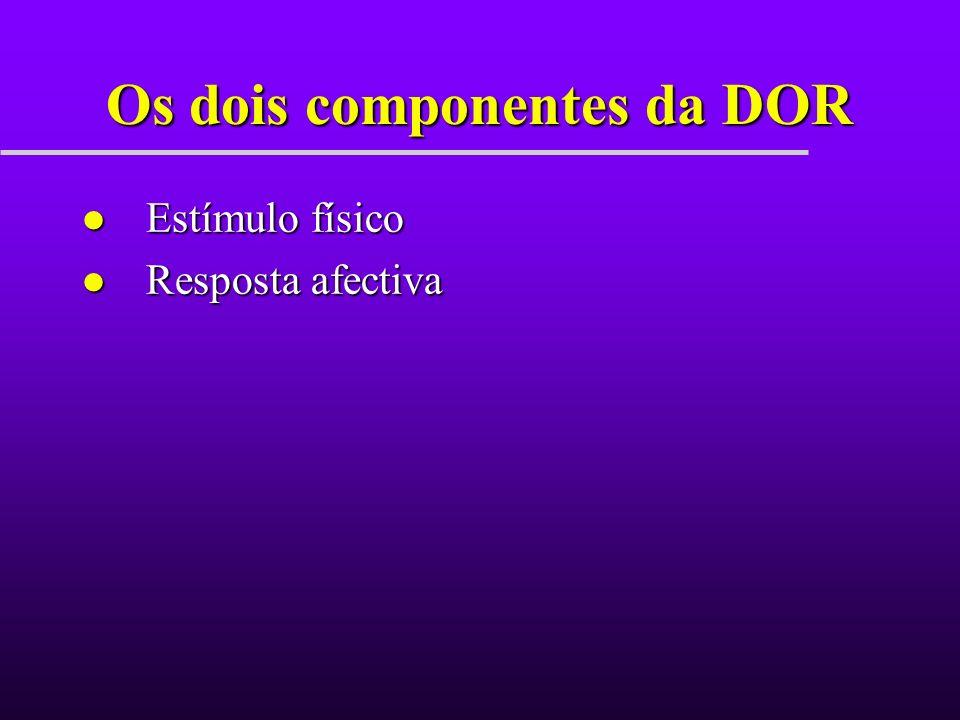 Os dois componentes da DOR