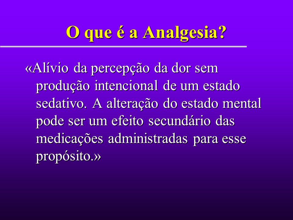 O que é a Analgesia