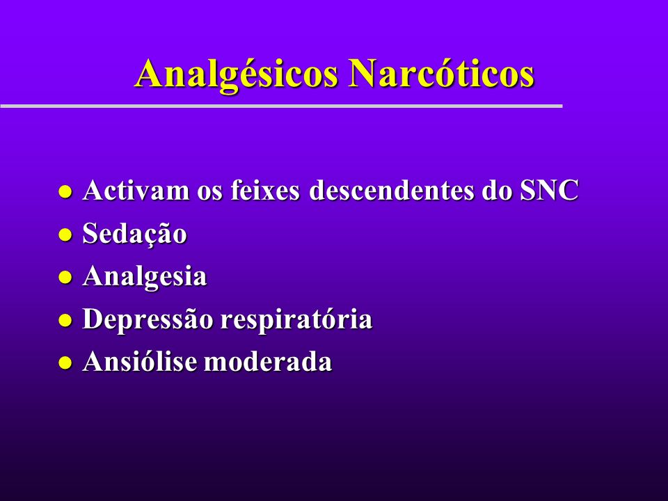 Analgésicos Narcóticos