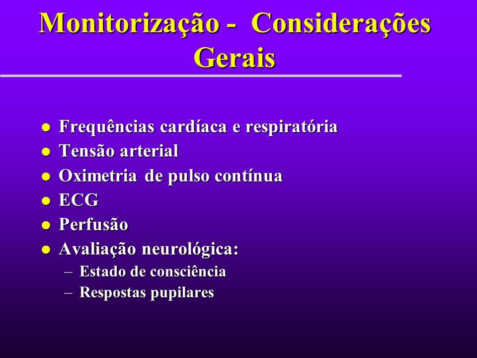 Monitorização - Considerações Gerais