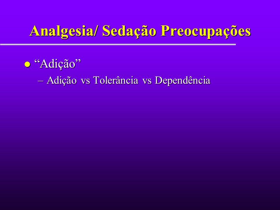 Analgesia/ Sedação Preocupações