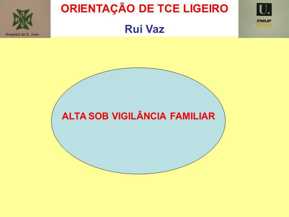 ORIENTAÇÃO DE TCE LIGEIRO ALTA SOB VIGILÂNCIA FAMILIAR