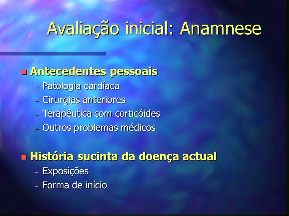 Avaliação inicial: Anamnese