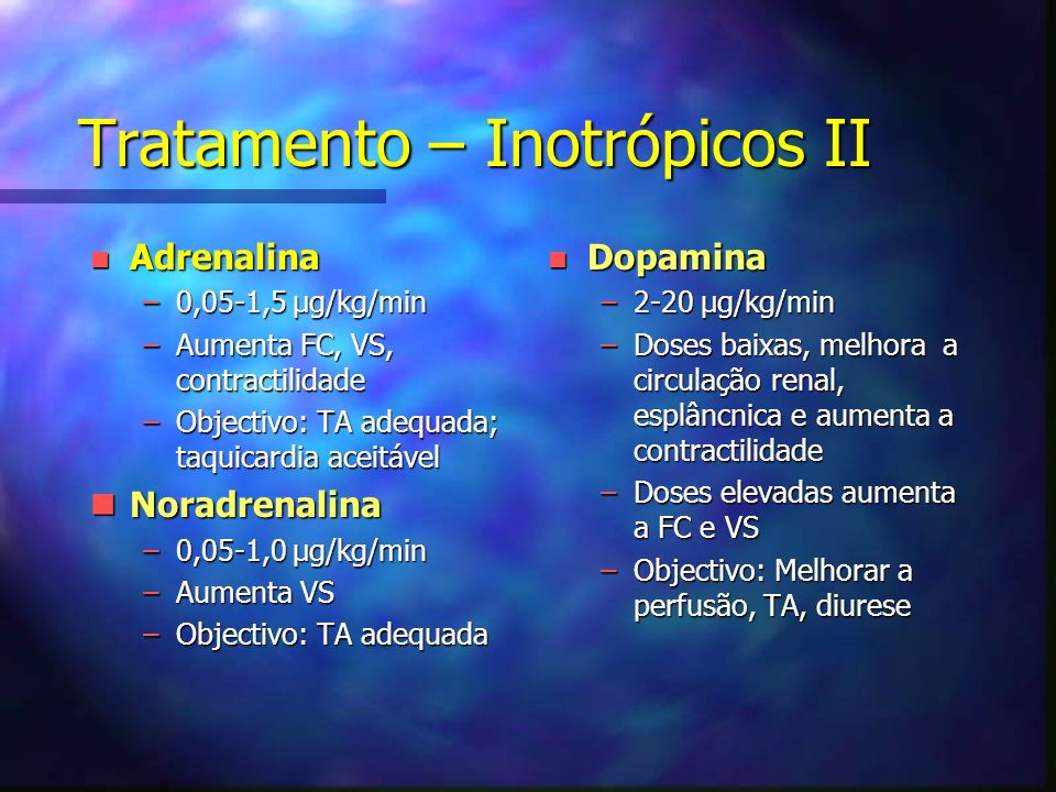 Tratamento – Inotrópicos II