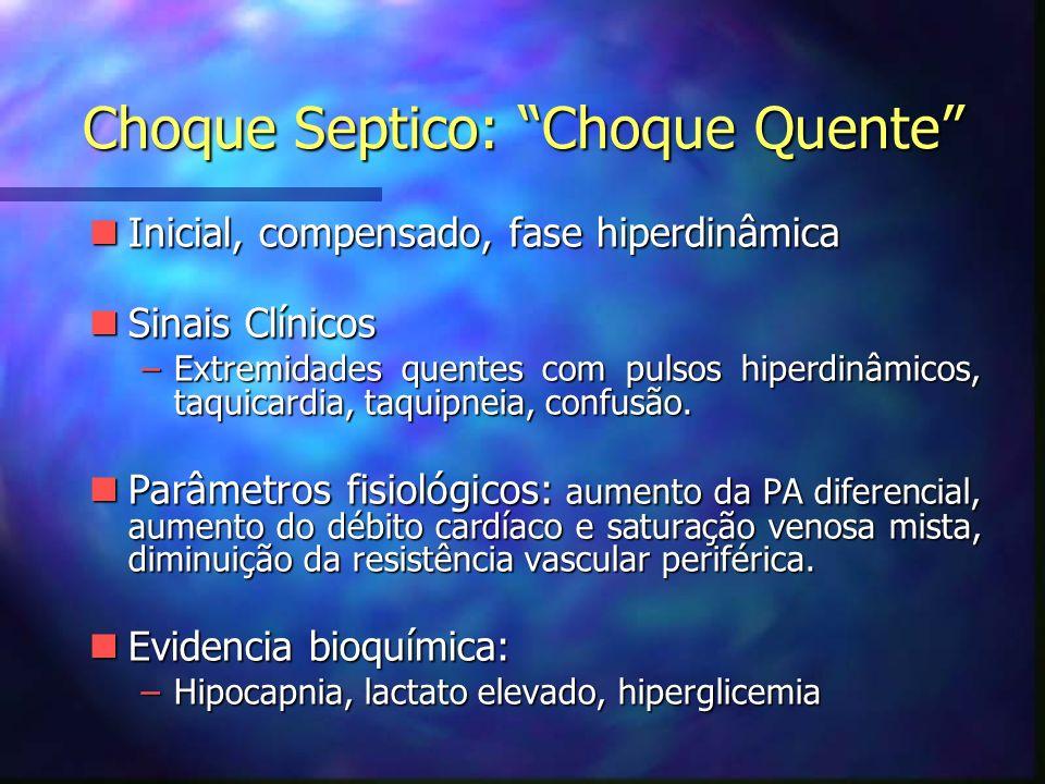 Choque Septico: Choque Quente
