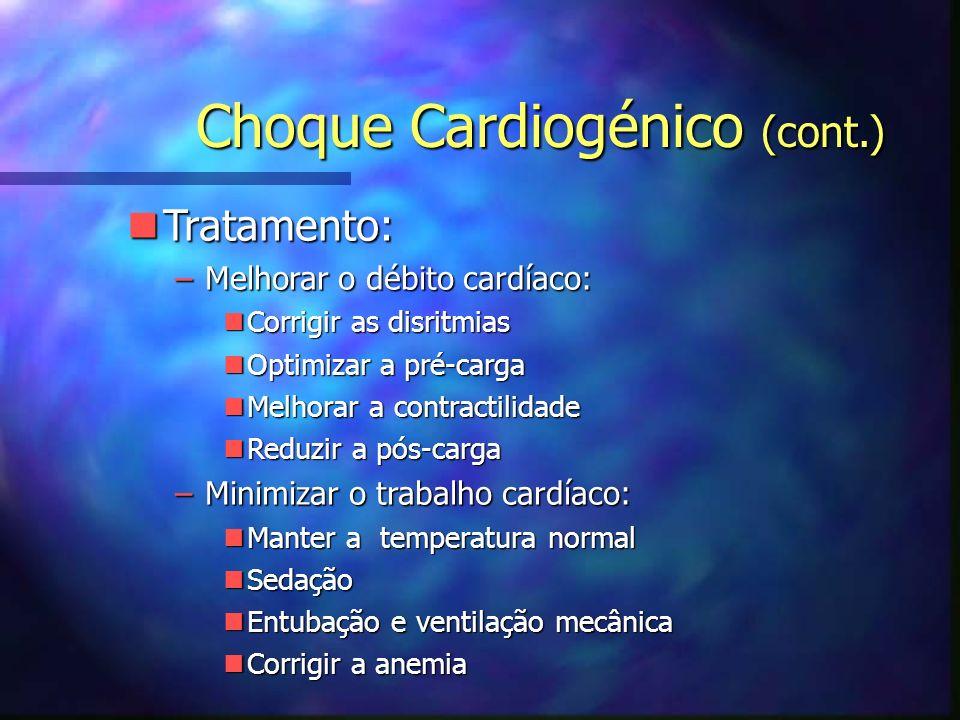 Choque Cardiogénico (cont.)
