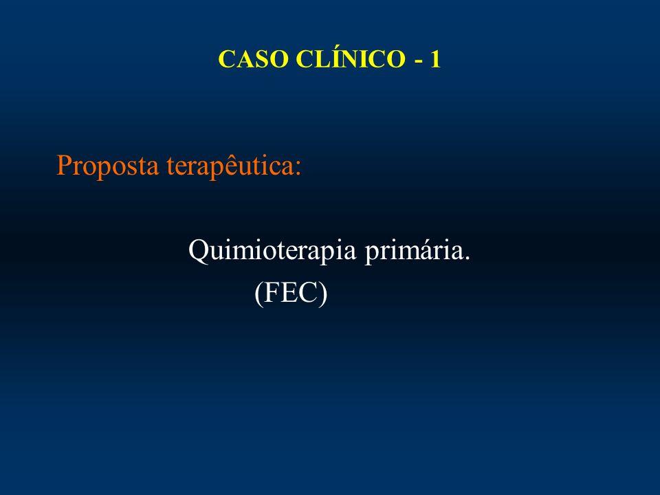 Proposta terapêutica: Quimioterapia primária. (FEC)