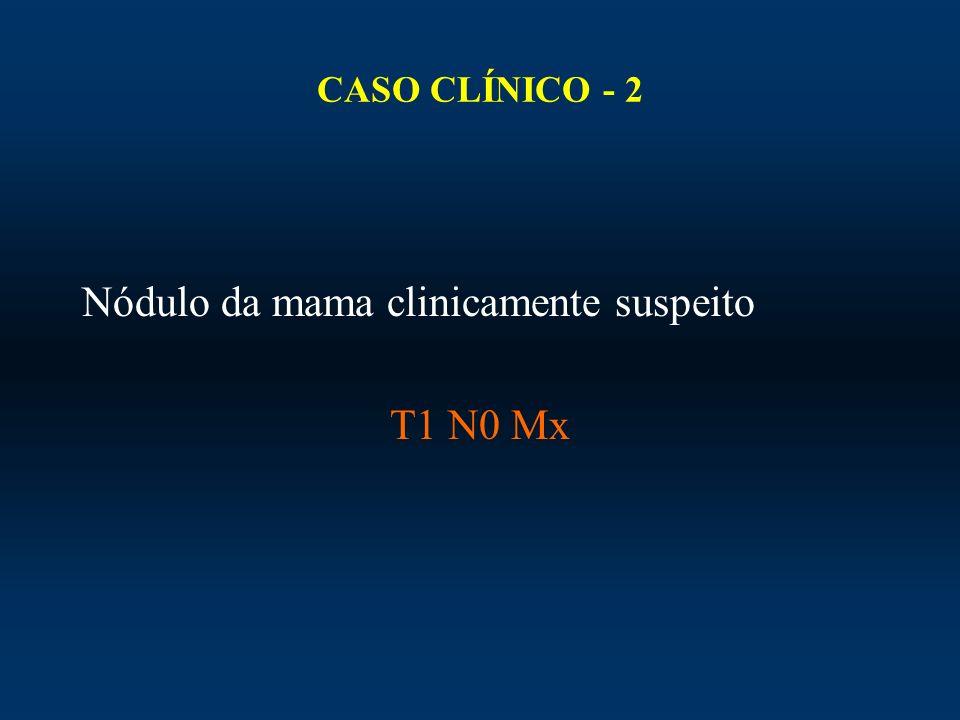 Nódulo da mama clinicamente suspeito T1 N0 Mx
