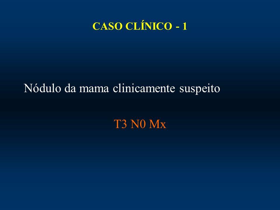 Nódulo da mama clinicamente suspeito T3 N0 Mx