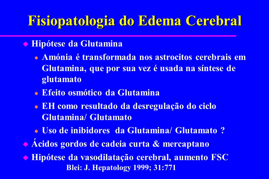 Fisiopatologia do Edema Cerebral