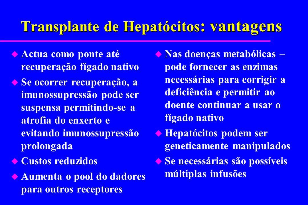 Transplante de Hepatócitos: vantagens