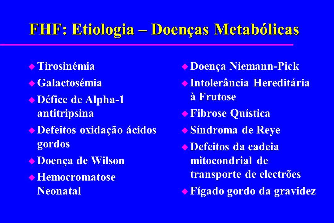FHF: Etiologia – Doenças Metabólicas