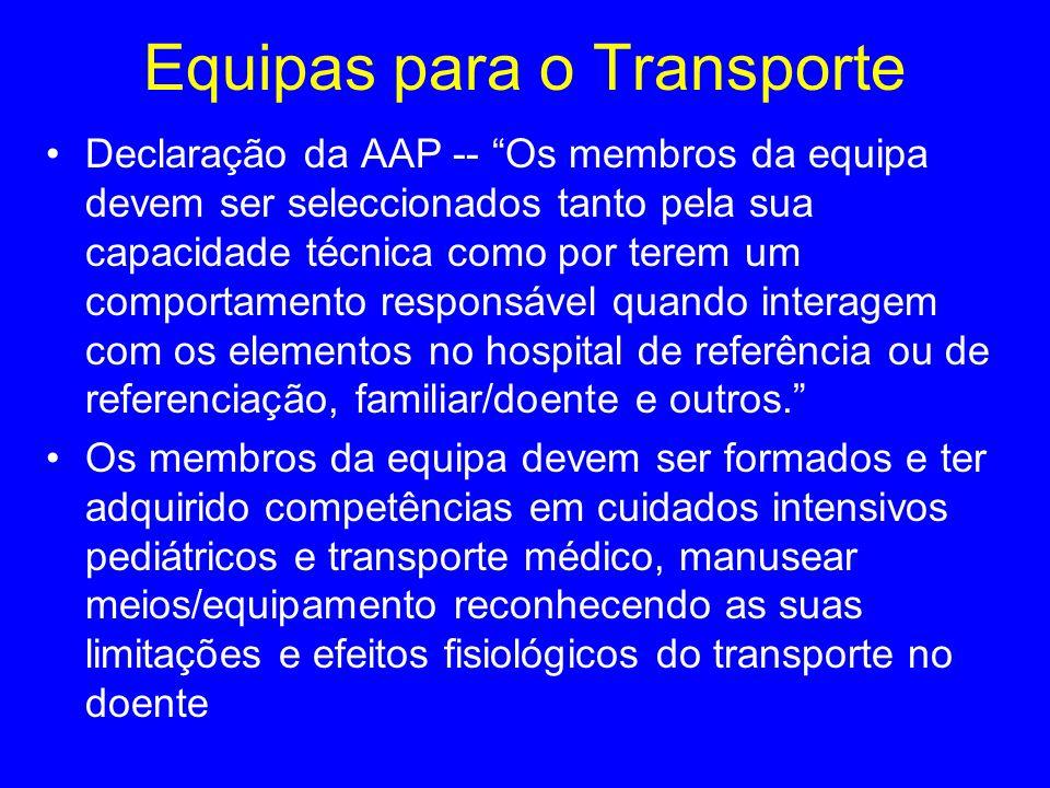 Equipas para o Transporte