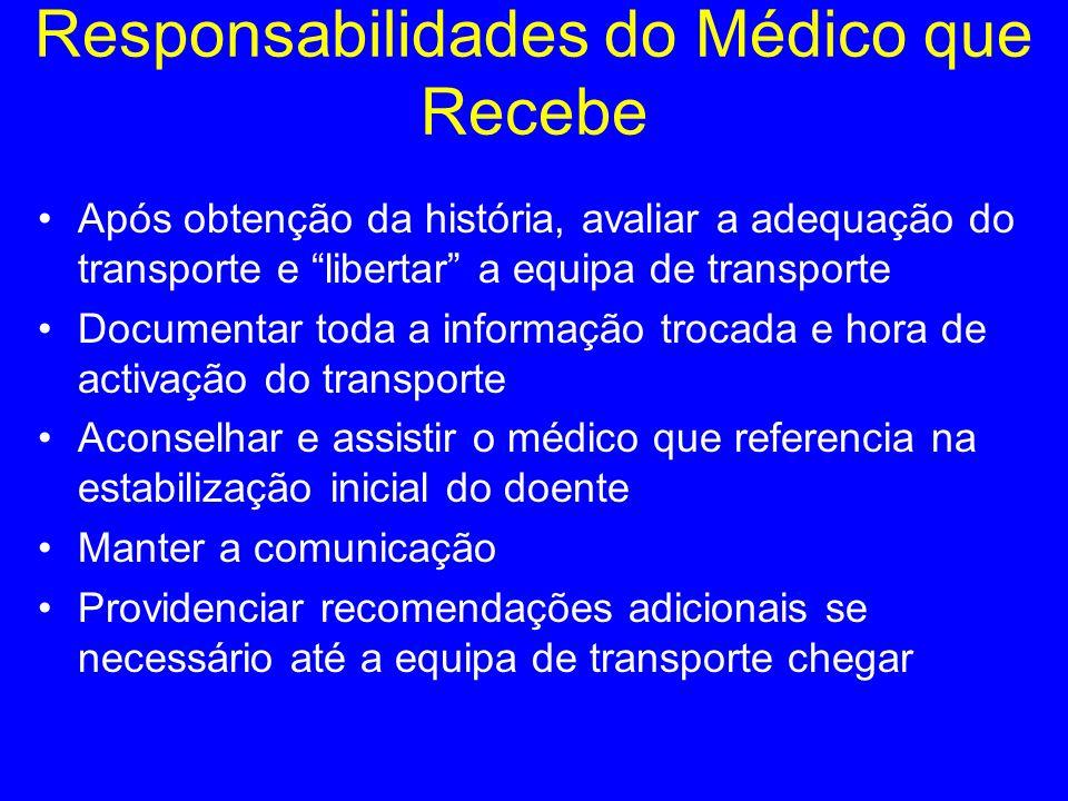 Responsabilidades do Médico que Recebe