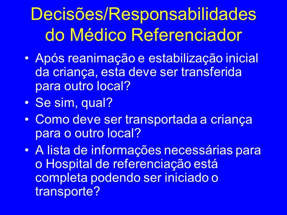 Decisões/Responsabilidades do Médico Referenciador