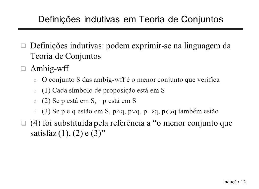 Definições indutivas em Teoria de Conjuntos