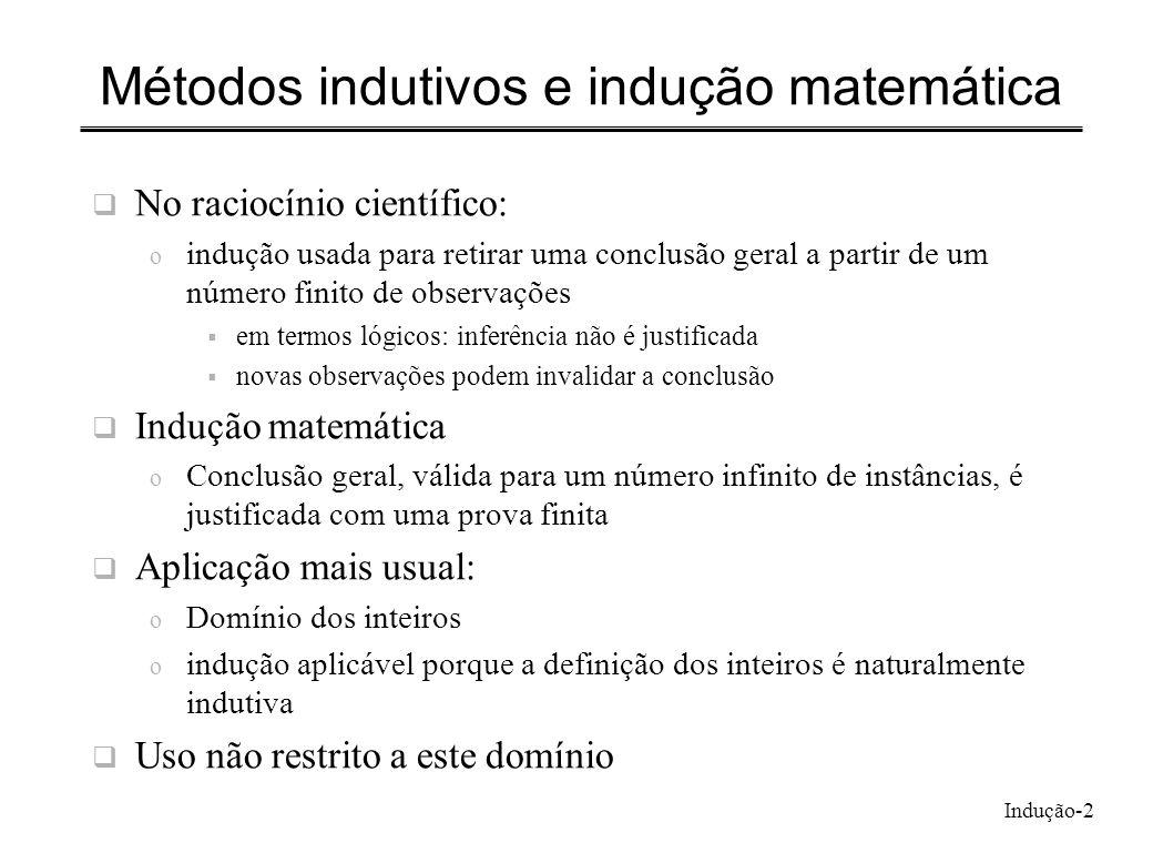 Métodos indutivos e indução matemática
