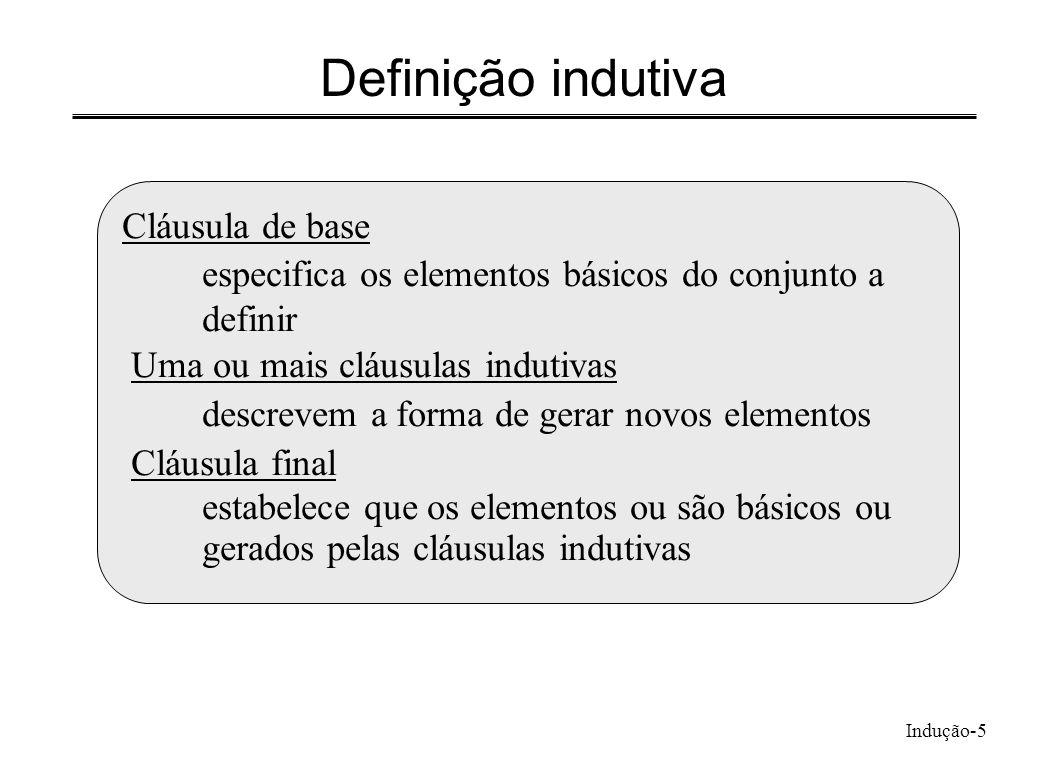 Definição indutiva Cláusula de base