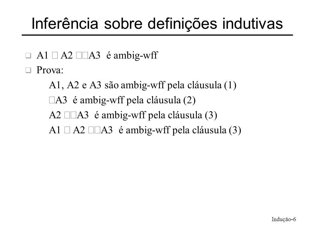 Inferência sobre definições indutivas