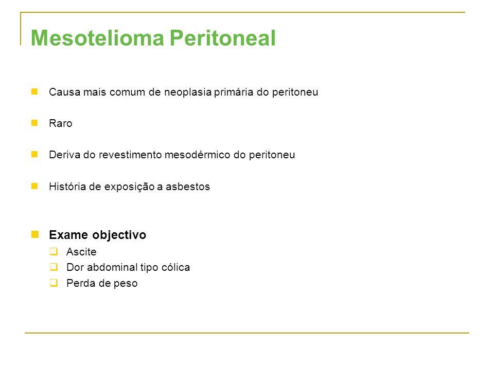 Mesotelioma Peritoneal
