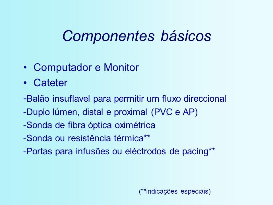 Componentes básicos Computador e Monitor Cateter