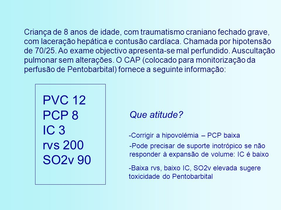 PVC 12 PCP 8 IC 3 rvs 200 SO2v 90 Que atitude