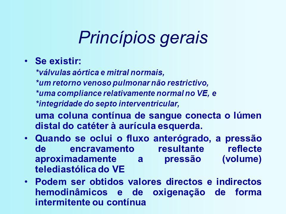 Princípios gerais Se existir: