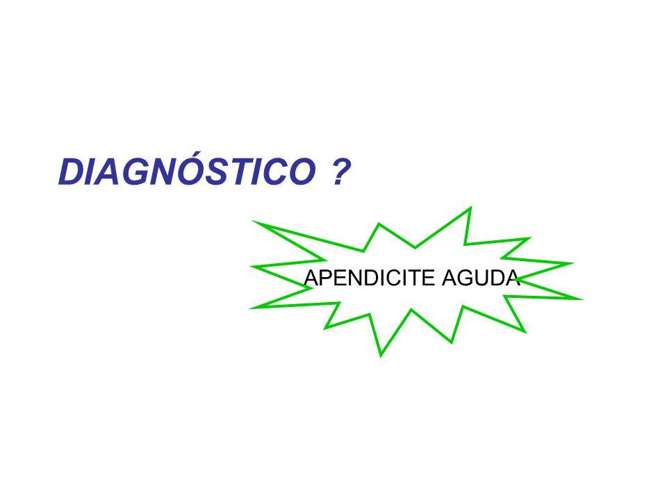 DIAGNÓSTICO APENDICITE AGUDA