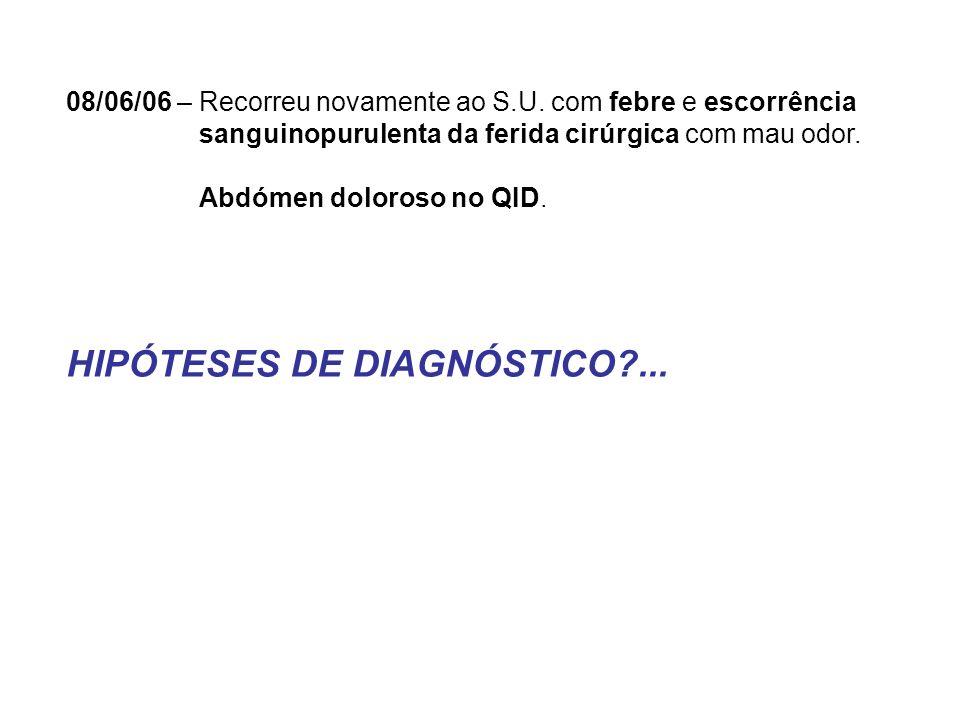 HIPÓTESES DE DIAGNÓSTICO ...