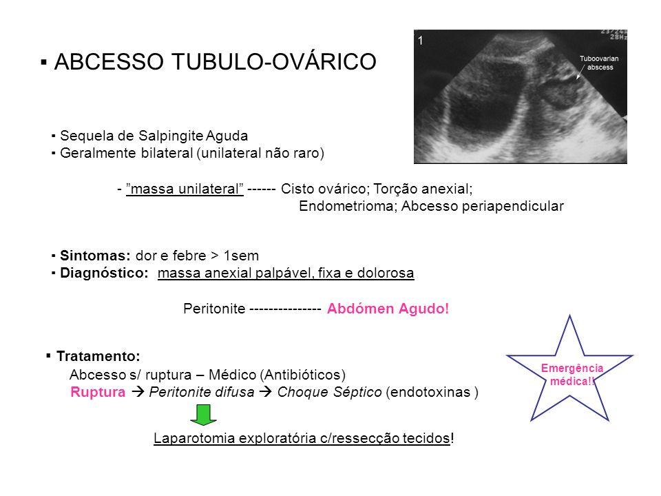 ▪ ABCESSO TUBULO-OVÁRICO
