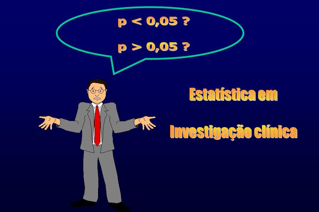 p < 0,05 p > 0,05 Estatística em Investigação clínica