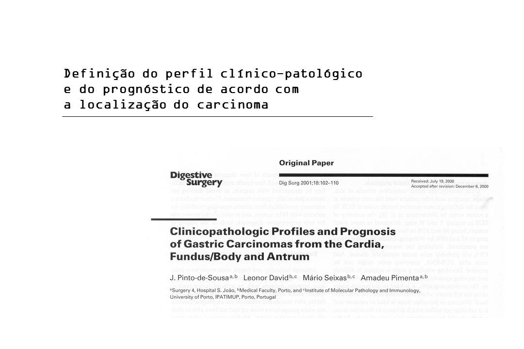 Definição do perfil clínico-patológico