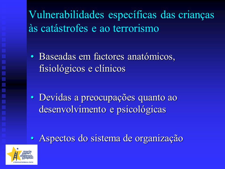 Vulnerabilidades específicas das crianças às catástrofes e ao terrorismo
