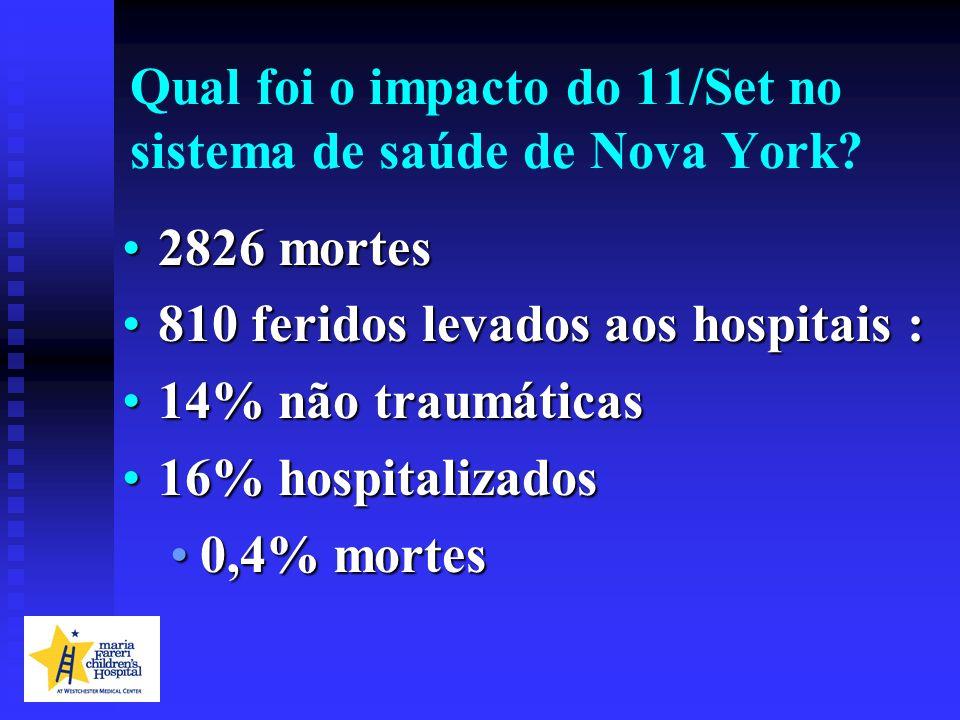 Qual foi o impacto do 11/Set no sistema de saúde de Nova York