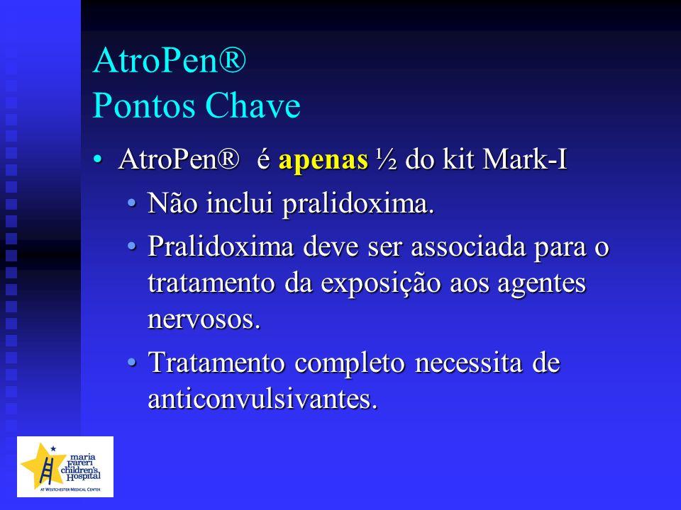 AtroPen® Pontos Chave AtroPen® é apenas ½ do kit Mark-I