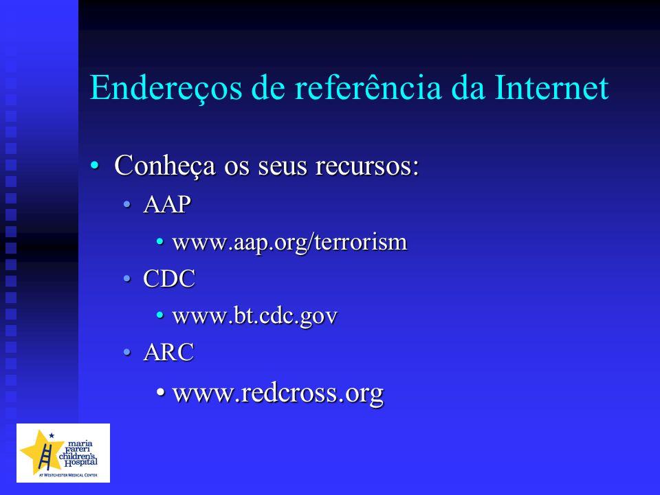 Endereços de referência da Internet