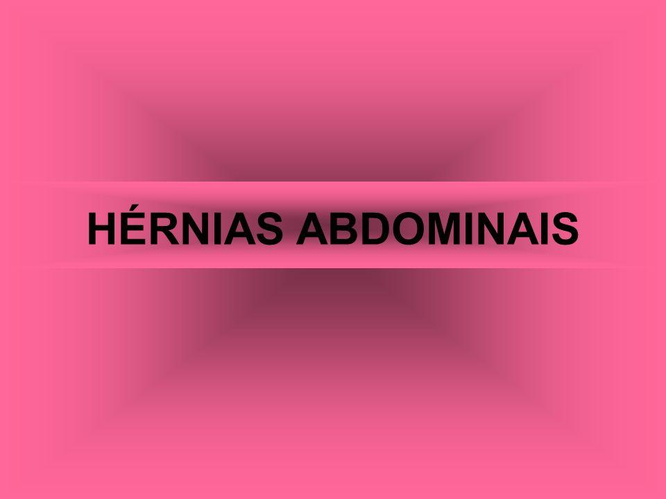 HÉRNIAS ABDOMINAIS