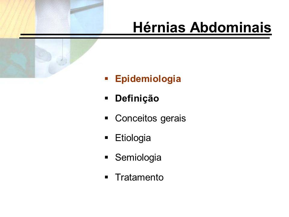 Hérnias Abdominais Epidemiologia Definição Conceitos gerais Etiologia