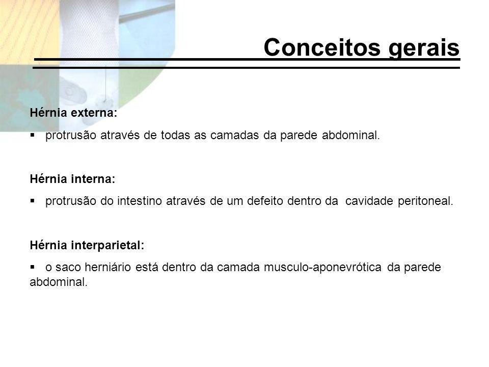 Conceitos gerais Hérnia externa: