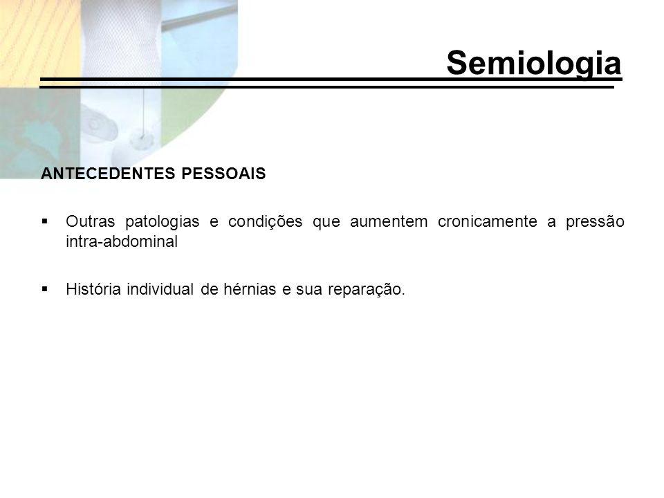 Semiologia ANTECEDENTES PESSOAIS